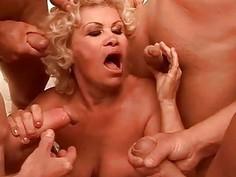 Lusty Grandmas Blowjob and Hard Sex Compilation