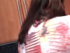 Teen hot latina deep throating massive dick in POV