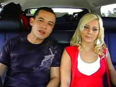 Sexy pornstar is gangbanged with excitement