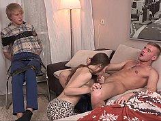 Innocent GF humiliates her BF