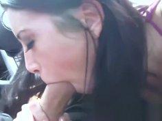 Asian teen facial POV hammered after roadside teasing