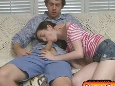 Victoria shared Jeremys long cock to her stepmom