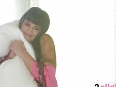 Stunning Latina Mercedes Carrera invites her fiend Alison for a steamy lesbian adventure