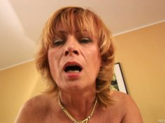 Worn out bitch Lady blows Steve Q cock