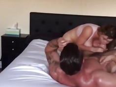 Bodybuilder fucking a hot Doll
