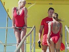 Bootcamp FFM with lifeguard sluts