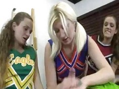 Horny Cheerleaders Wants Some Spurting Competition