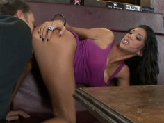 Kayla Carrera gets fucked in small disco bar