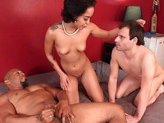 Cuck Hubby Has to Watch as His Wife Receives Black