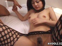Horny Japanese slut Mariko Shiraishi gets her holes filled with various vibrators