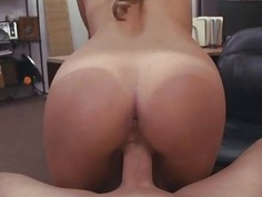 Horny hot waitress getting