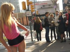 Brazilian slut Anita Ribeiro lures men standing in the middle of the street