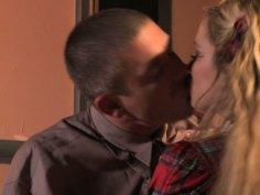 Buxom blonde whore Shyla Stylez blows dick and fucks on the teacher's desk