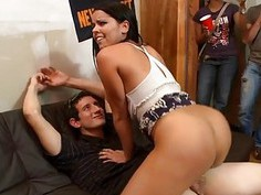 Gals are delighting studs with wild blow job