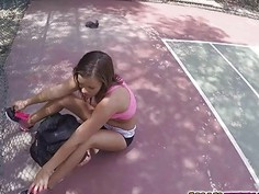 Karters tight teen pussy got drilled for somer money