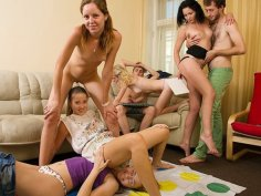 Hot college orgy in the end of the year