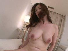 Horny MILF babe Miyama Ranko rides cock on POV video