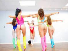 Faapy goes aerobics with hotties