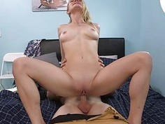 Poor sighted milf Alexa Pierce threeway on the couch
