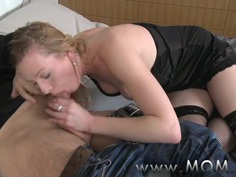 MOM Mature blonde teaches him a thing or two