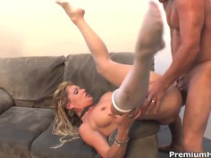Dirty milf Kelly Leigh is fucked in her kitty