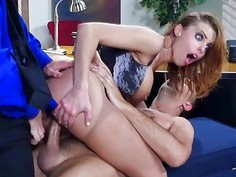 Britney Amber gets fucked with two huge stiff cock