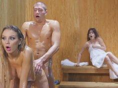 Succubus in Sauna Sodomized Hard