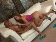 Astonishingly beautiful girls Cayton Caley and Demi Delia pleasuring one another in a steamy lesbian sex vid