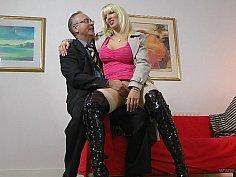 Sitting in his lap