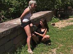 European girl gets disgraced in public