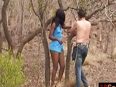 African Ebony Chained Outdoors Fucked Interracial